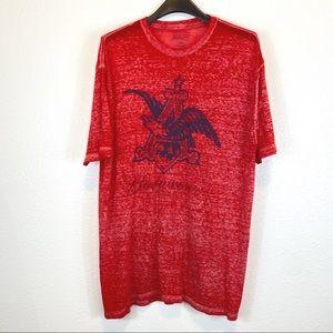 Budweiser Red Blue Space Dye T-Shirt XL (46-48)